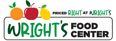 A logo of Wright's Food Center